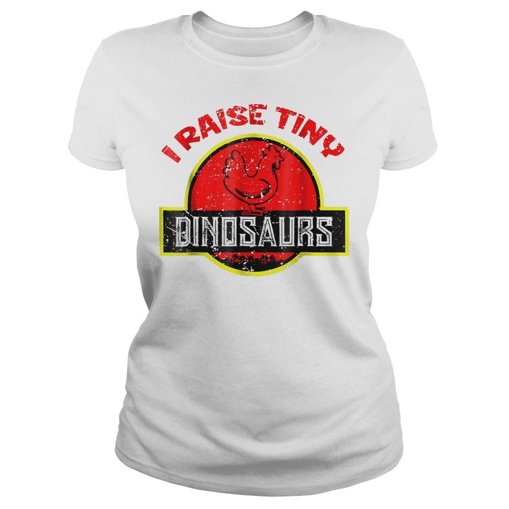 I Raise Tiny Dinosaurs T-Shirt Classic Ladies Tee