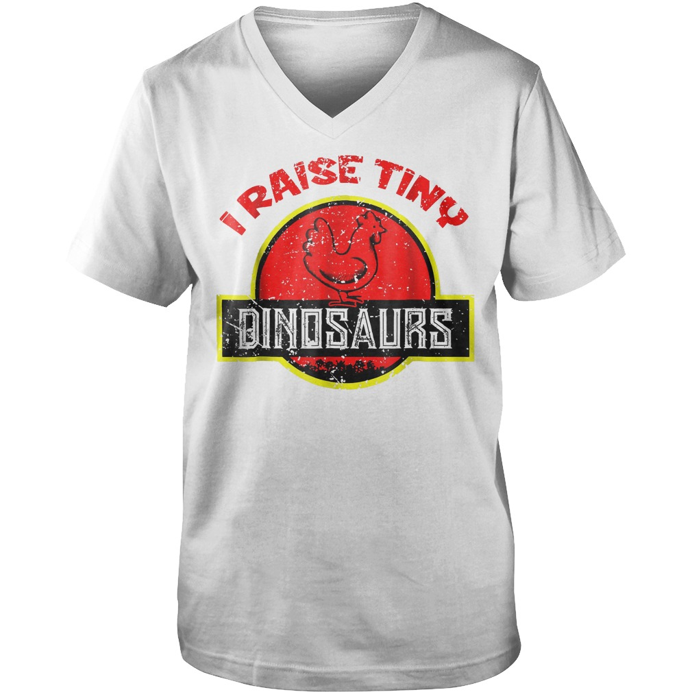 I Raise Tiny Dinosaurs T-Shirt Guys V-Neck