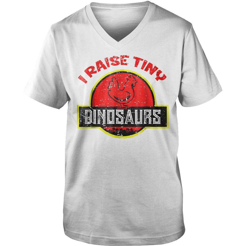 I Raise Tiny Dinosaurs T-Shirt Guys V-Neck