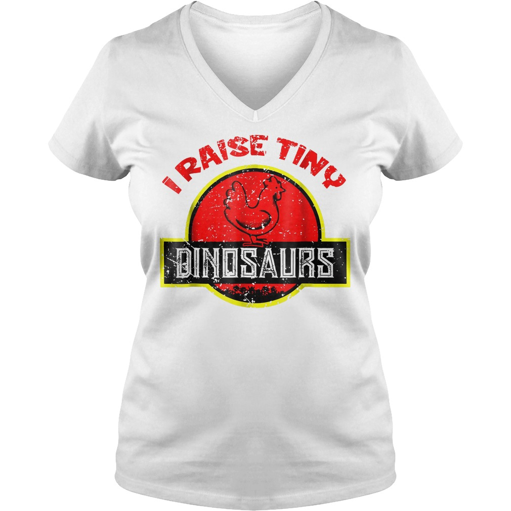 I Raise Tiny Dinosaurs T-Shirt Ladies V-Neck