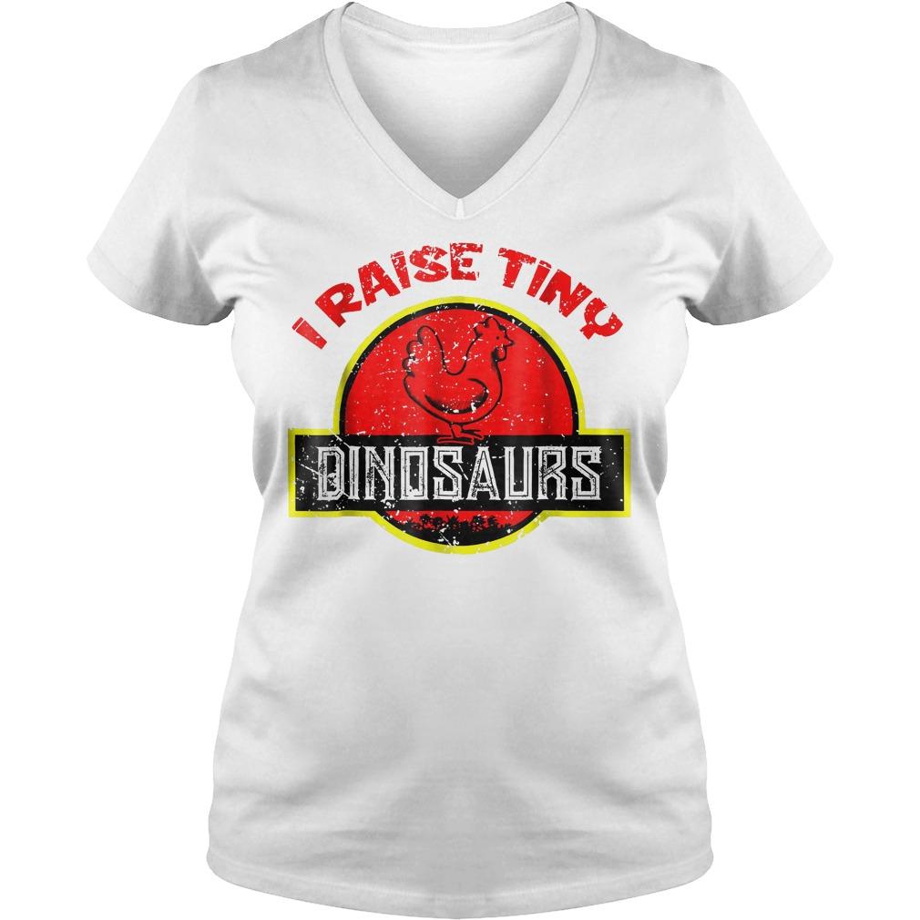 I Raise Tiny Dinosaurs T-Shirt Ladies V-Neck