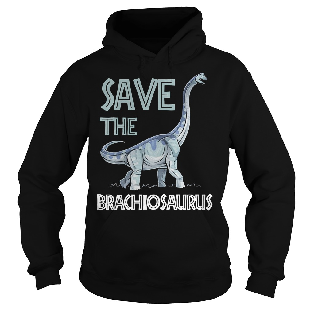 Jurassic World Save The Brachiosaurus Dinosaur T-Shirt Hoodie