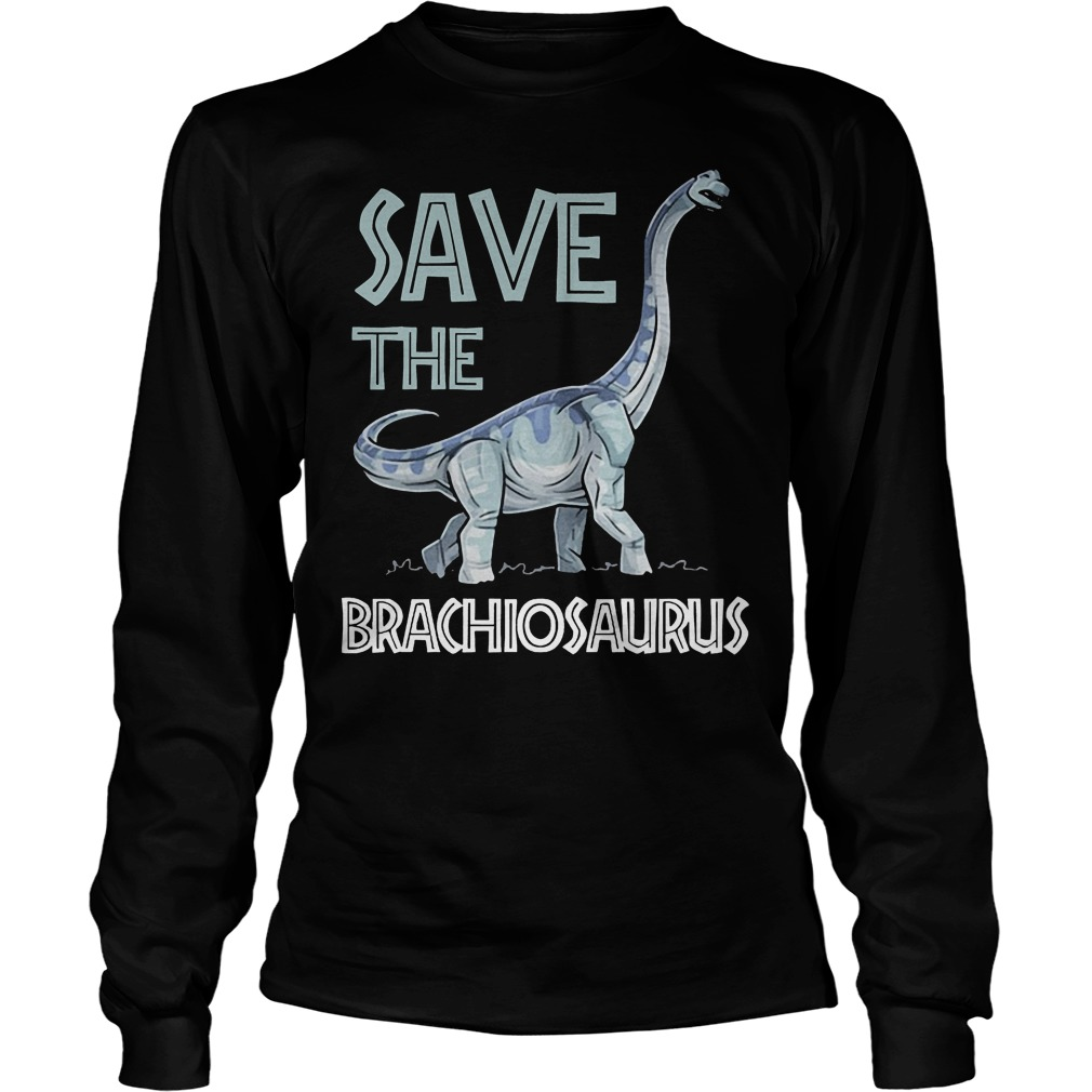 Jurassic World Save The Brachiosaurus Dinosaur T-Shirt Longsleeve Tee Unisex