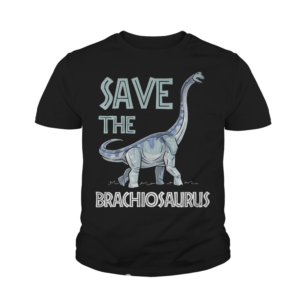 Jurassic World Save The Brachiosaurus Dinosaur T-Shirt Youth Tee