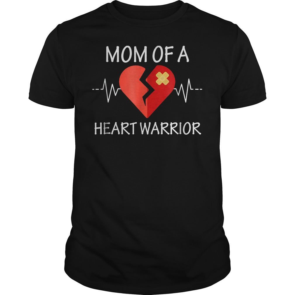 Mom Of A Heart Warrior T-Shirt Classic Guys / Unisex Tee