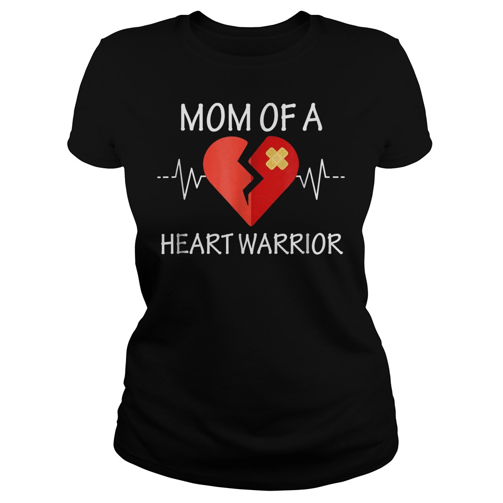 Mom Of A Heart Warrior T-Shirt Classic Ladies Tee