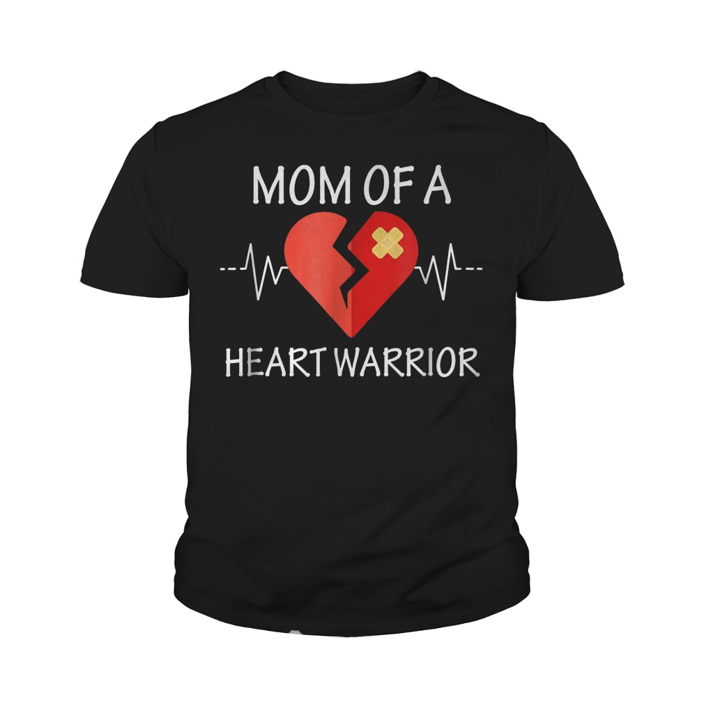 Mom Of A Heart Warrior T-Shirt Youth Tee