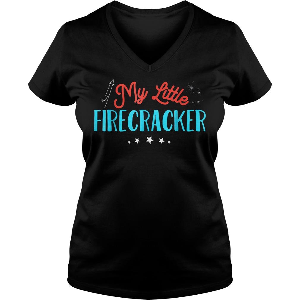 My Little Firecracker T-Shirt Ladies V-Neck
