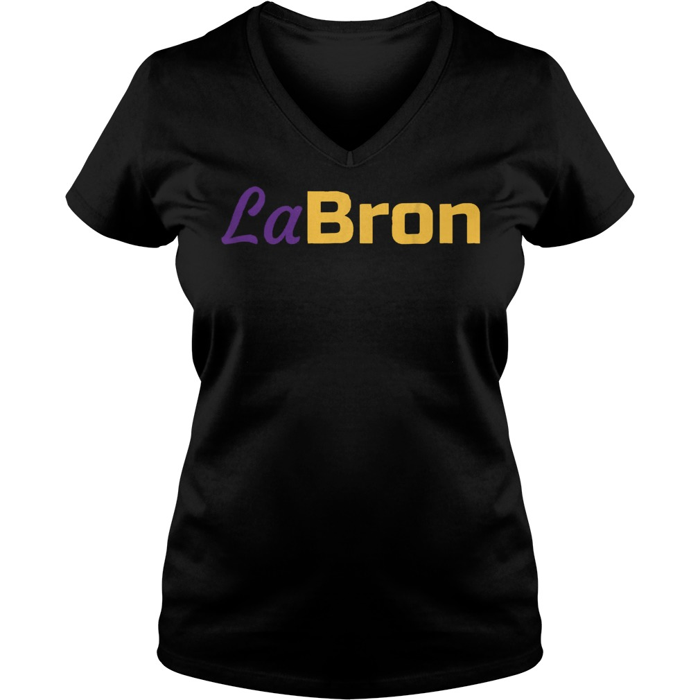 Official Labron Lebron Lakers T-Shirt Ladies V-Neck