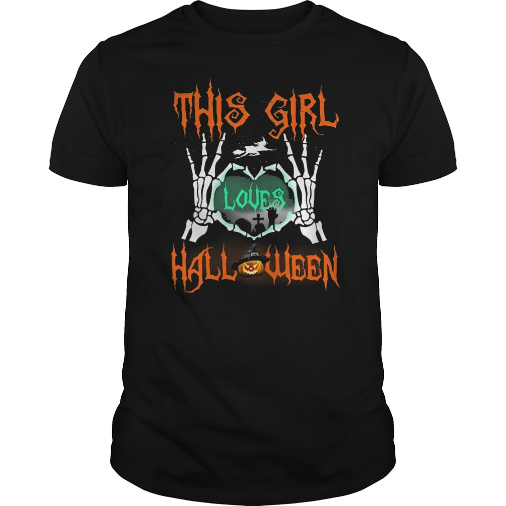 Official This Girl Loves Halloween T-Shirt Classic Guys / Unisex Tee