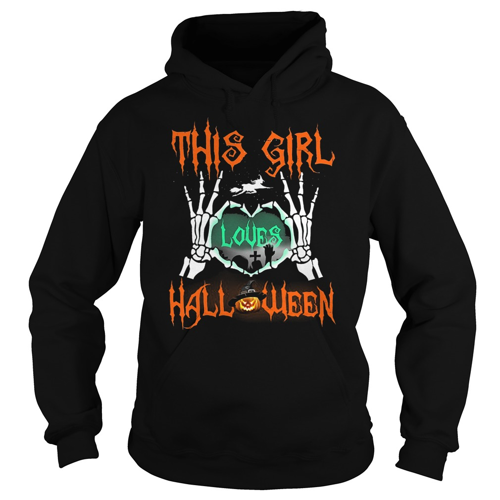 Official This Girl Loves Halloween T-Shirt Hoodie