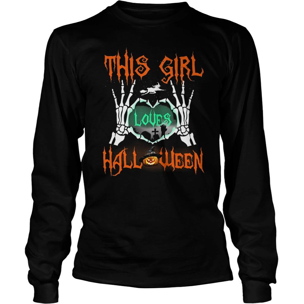 Official This Girl Loves Halloween T-Shirt Longsleeve Tee Unisex