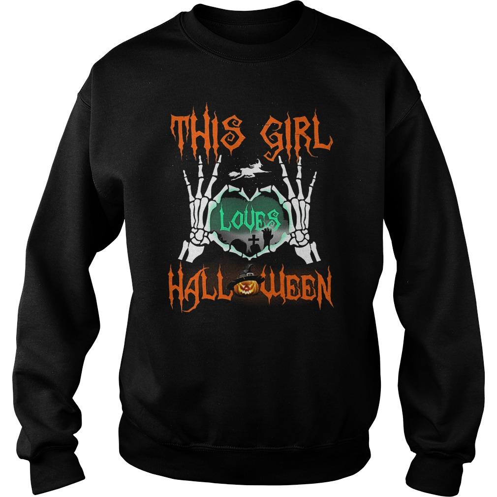 Official This Girl Loves Halloween T-Shirt Sweatshirt Unisex