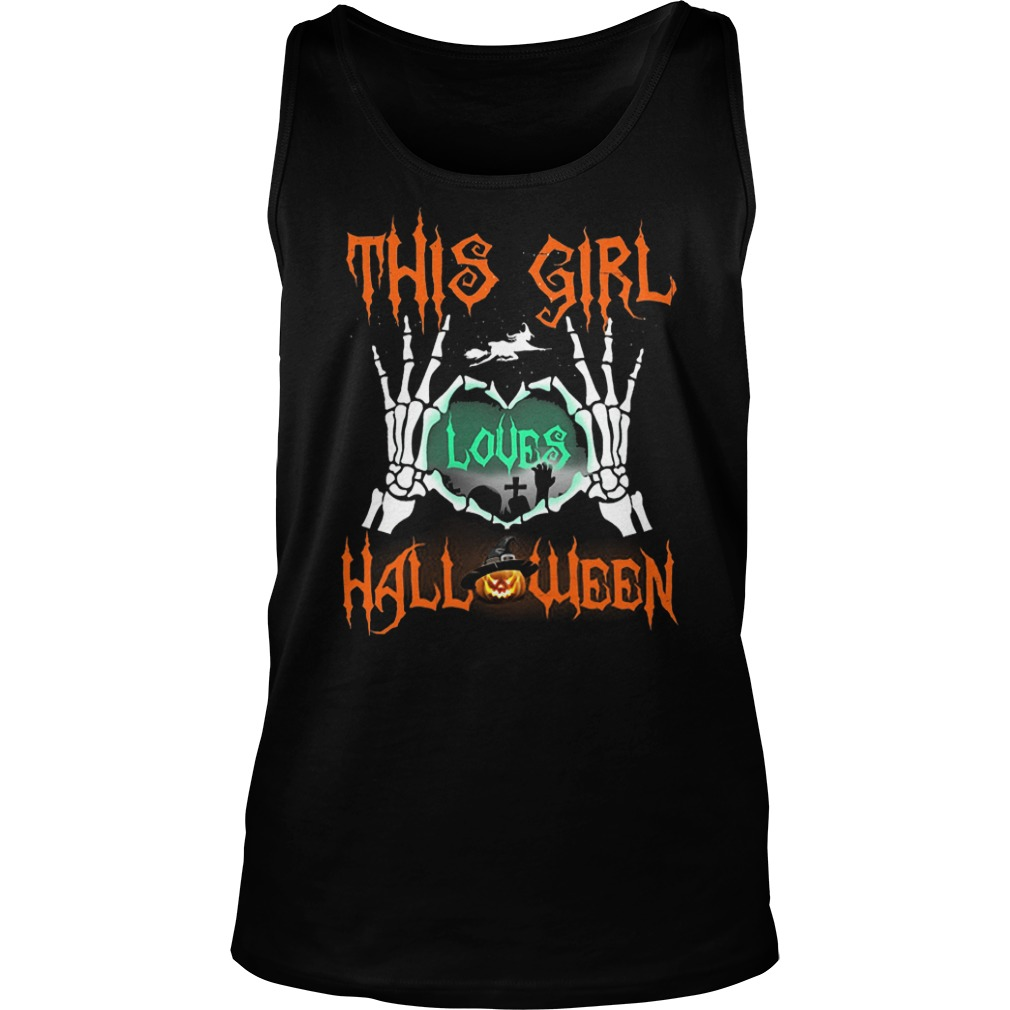 Official This Girl Loves Halloween T-Shirt Tank Top Unisex
