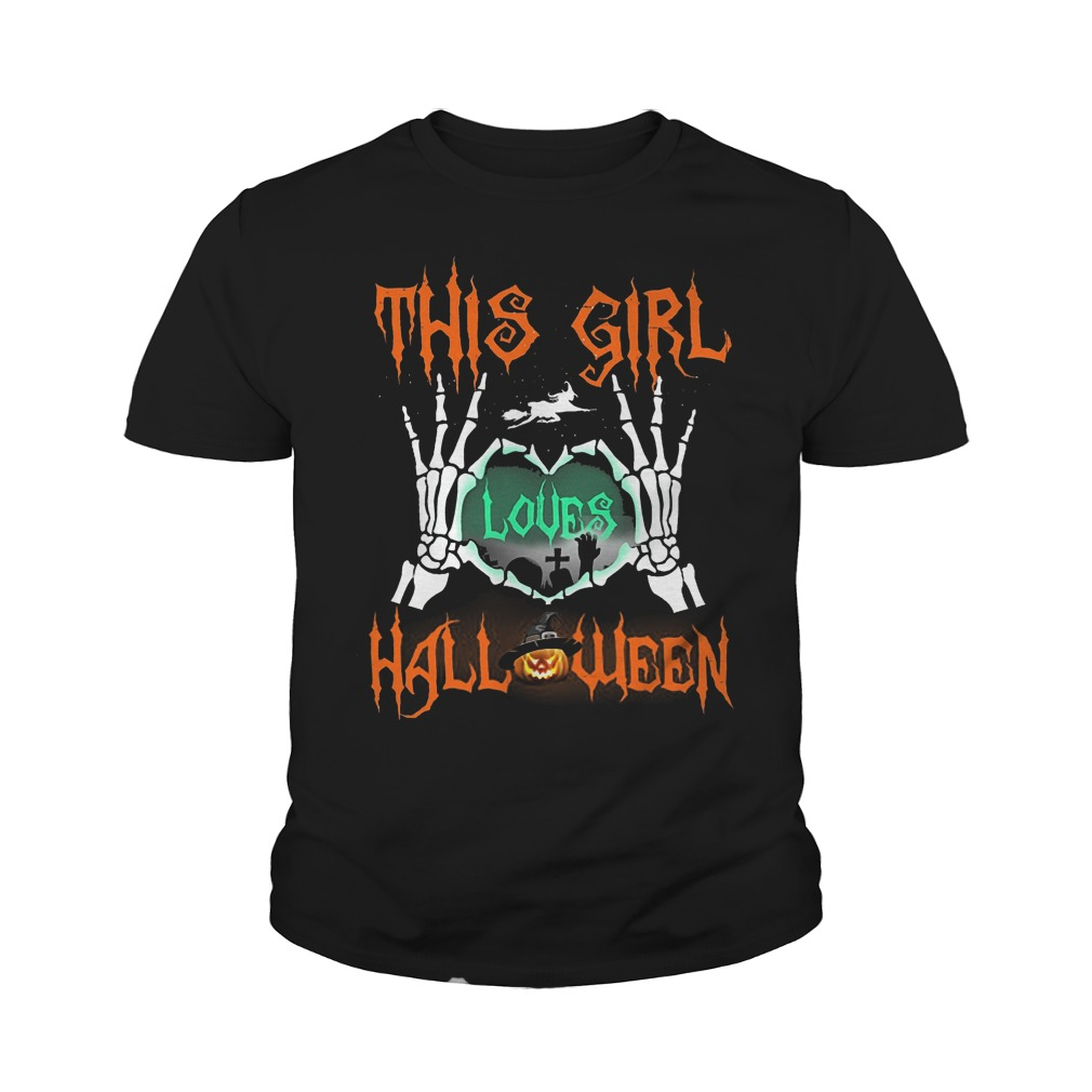 Official This Girl Loves Halloween T-Shirt Youth Tee