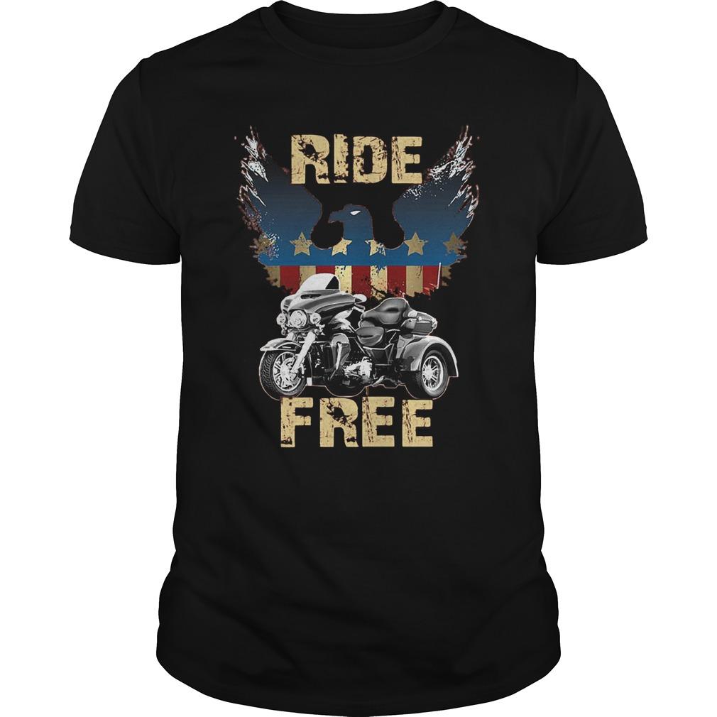 Ride America Free T-Shirt Guys Tee