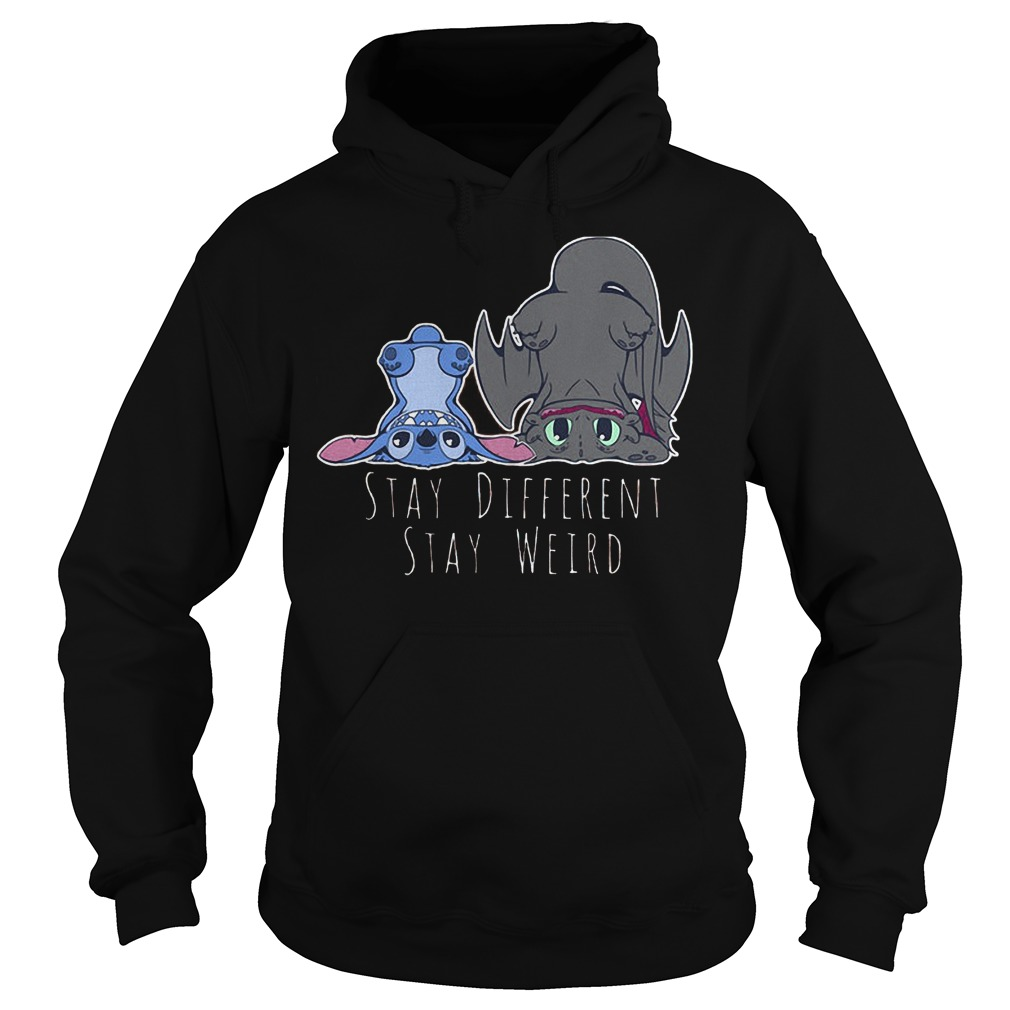 Stay Different Stay Weird Stitch And Night Fury T-Shirt Hoodie