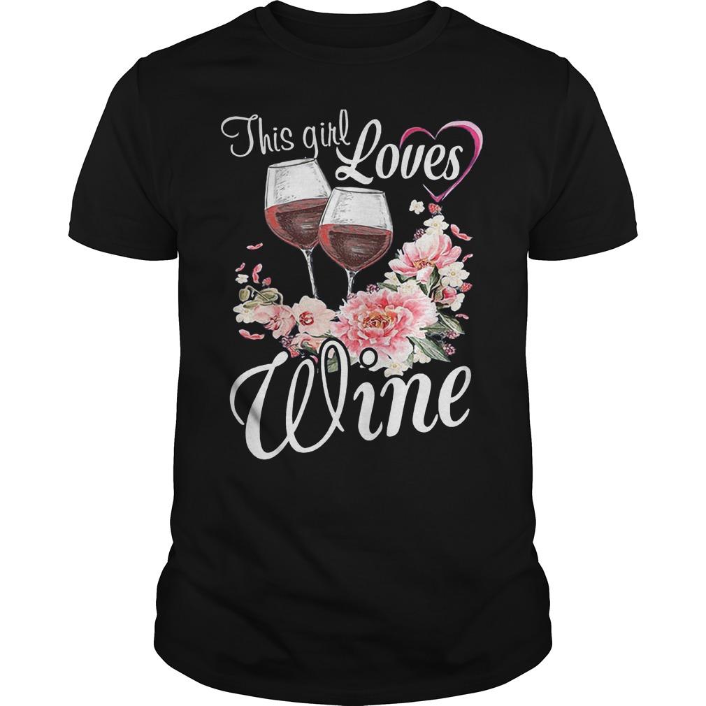 This Girl Loves Wine T-Shirt Guys Tee