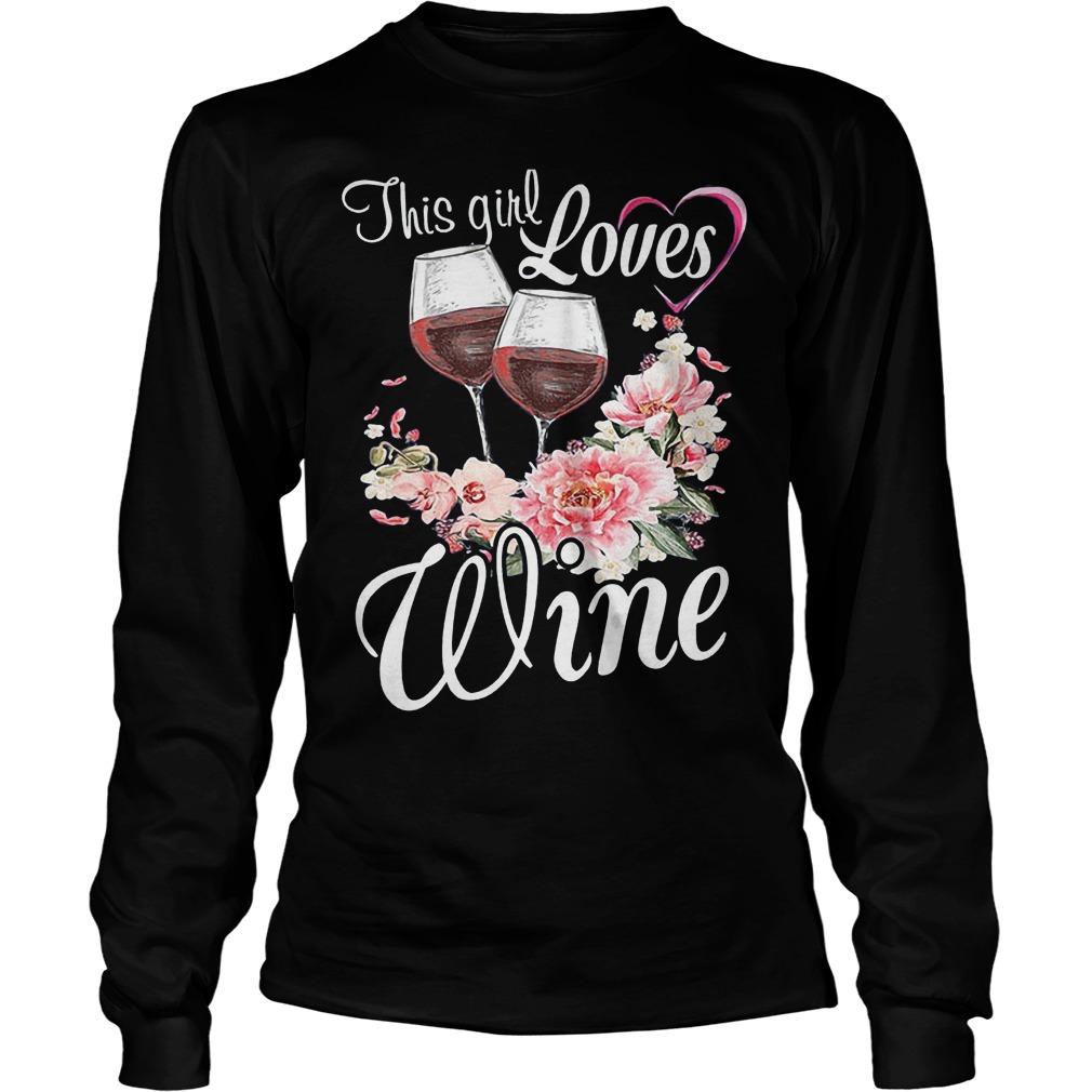 This Girl Loves Wine T-Shirt Unisex Longsleeve Tee