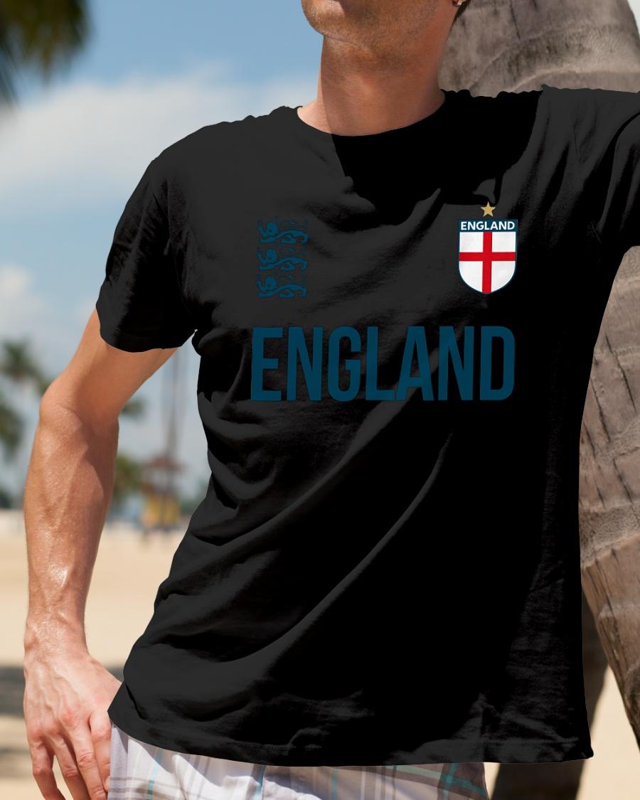 Three Heraldic Lions England World Cup 2018 T Shirt