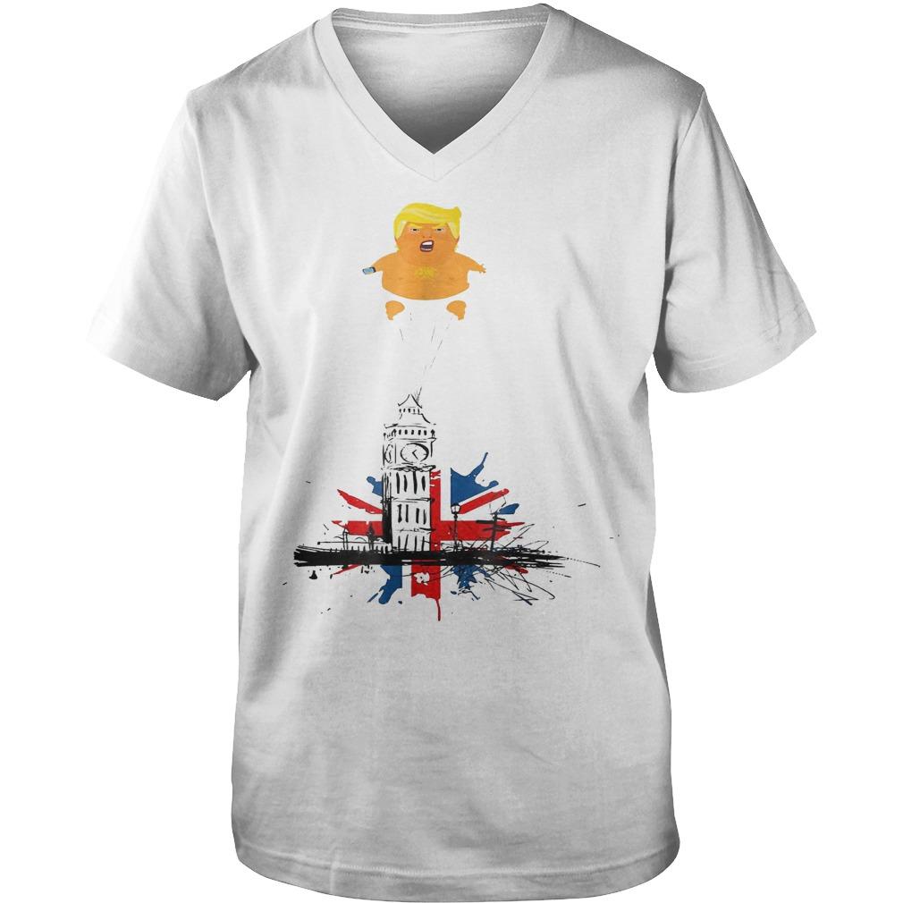 Trump And Baby Blimp T-Shirt Guys V-Neck