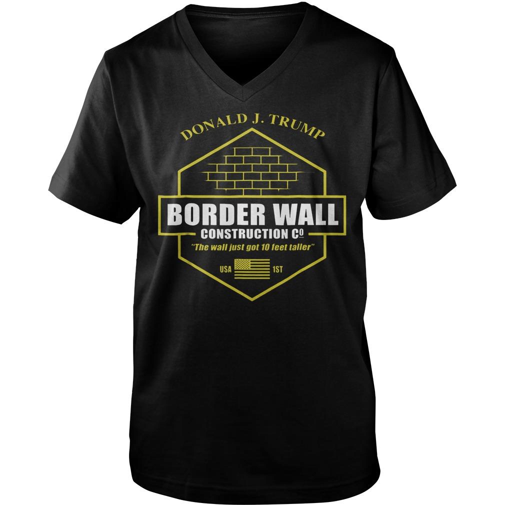 Trump Border Wall Construction Company T-Shirt Guys V-Neck