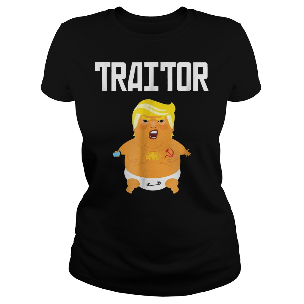 Trump Russia Traitor T-Shirt Classic Ladies Tee