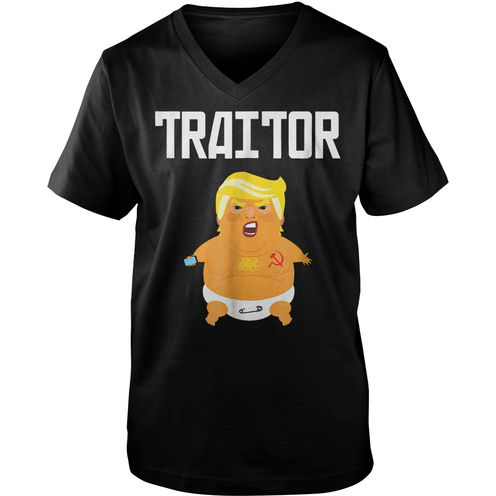 Trump Russia Traitor T-Shirt Guys V-Neck