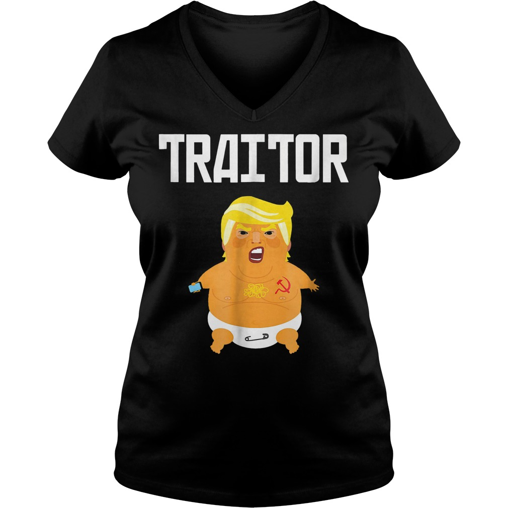 Trump Russia Traitor T-Shirt Ladies V-Neck