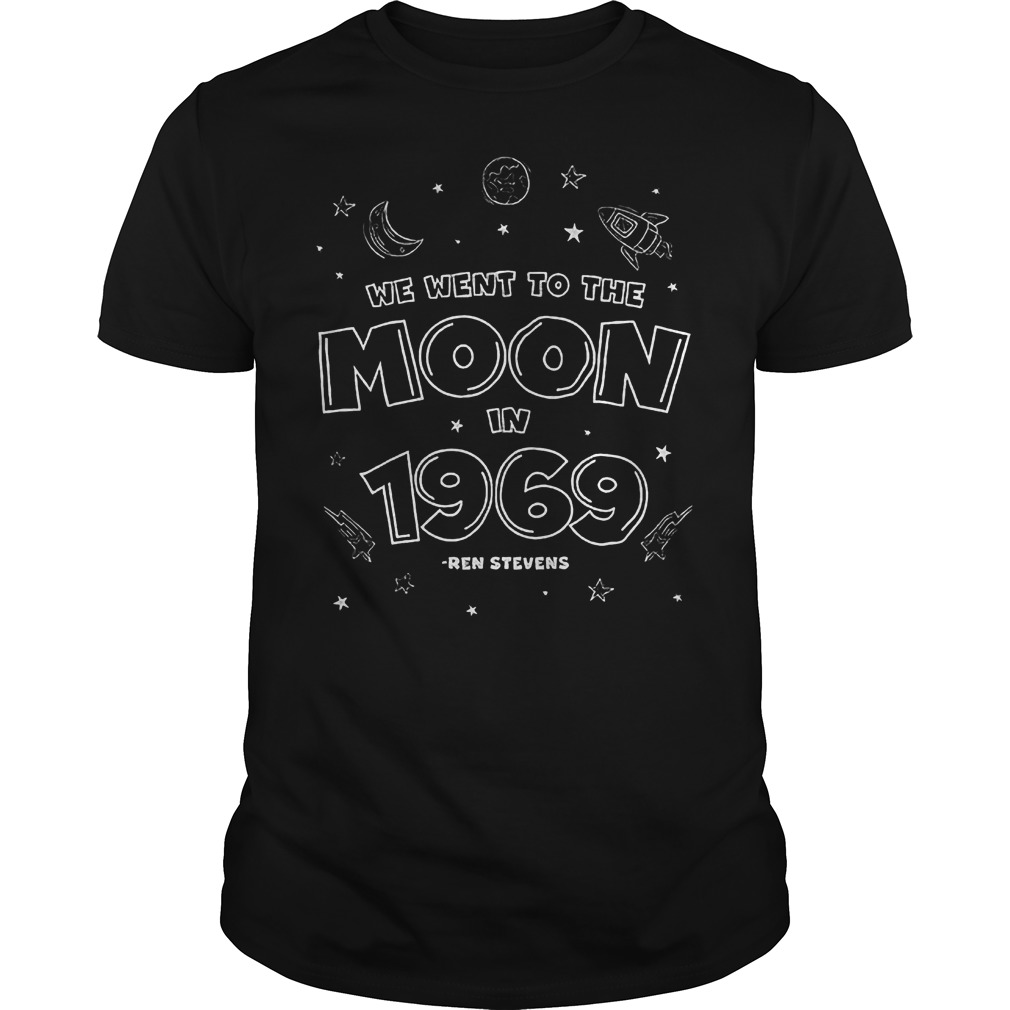 We Went To The Moon In 1969 T-Shirt Classic Guys / Unisex Tee