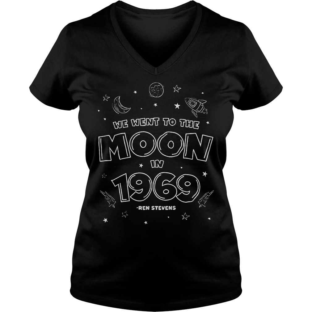We Went To The Moon In 1969 T-Shirt Ladies V-Neck
