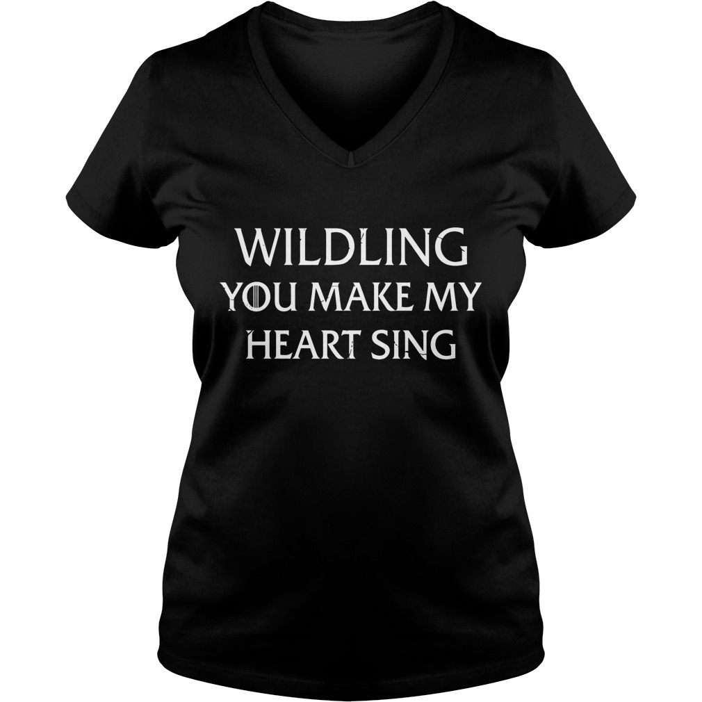 Wilding You Make My Heart Sing T-Shirt Ladies V-Neck