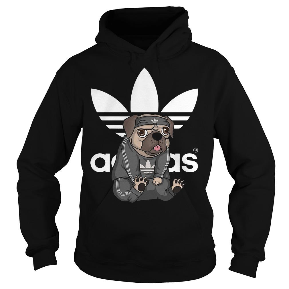 Adidas Pug shirt Hoodie
