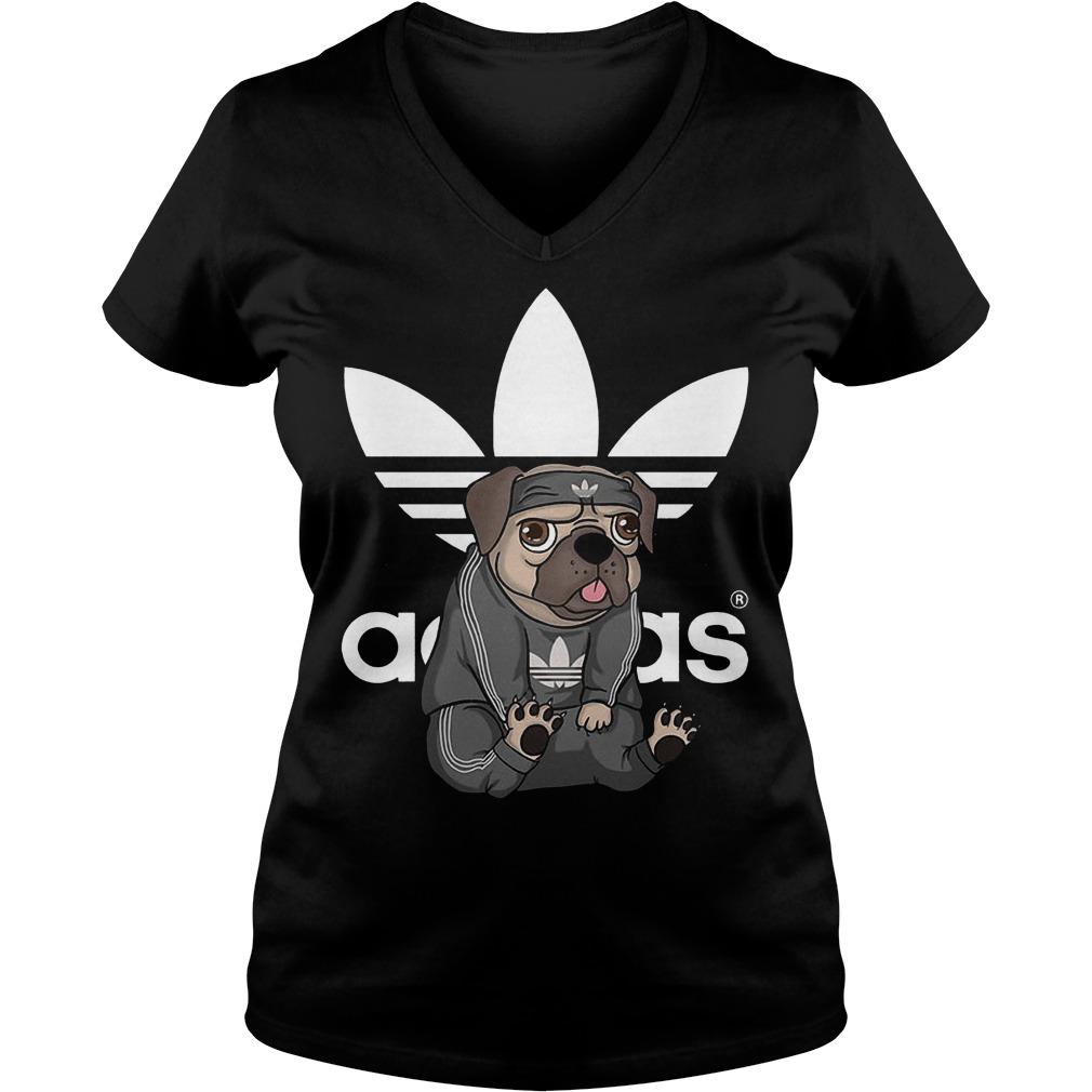 Adidas Pug shirt Ladies V-Neck