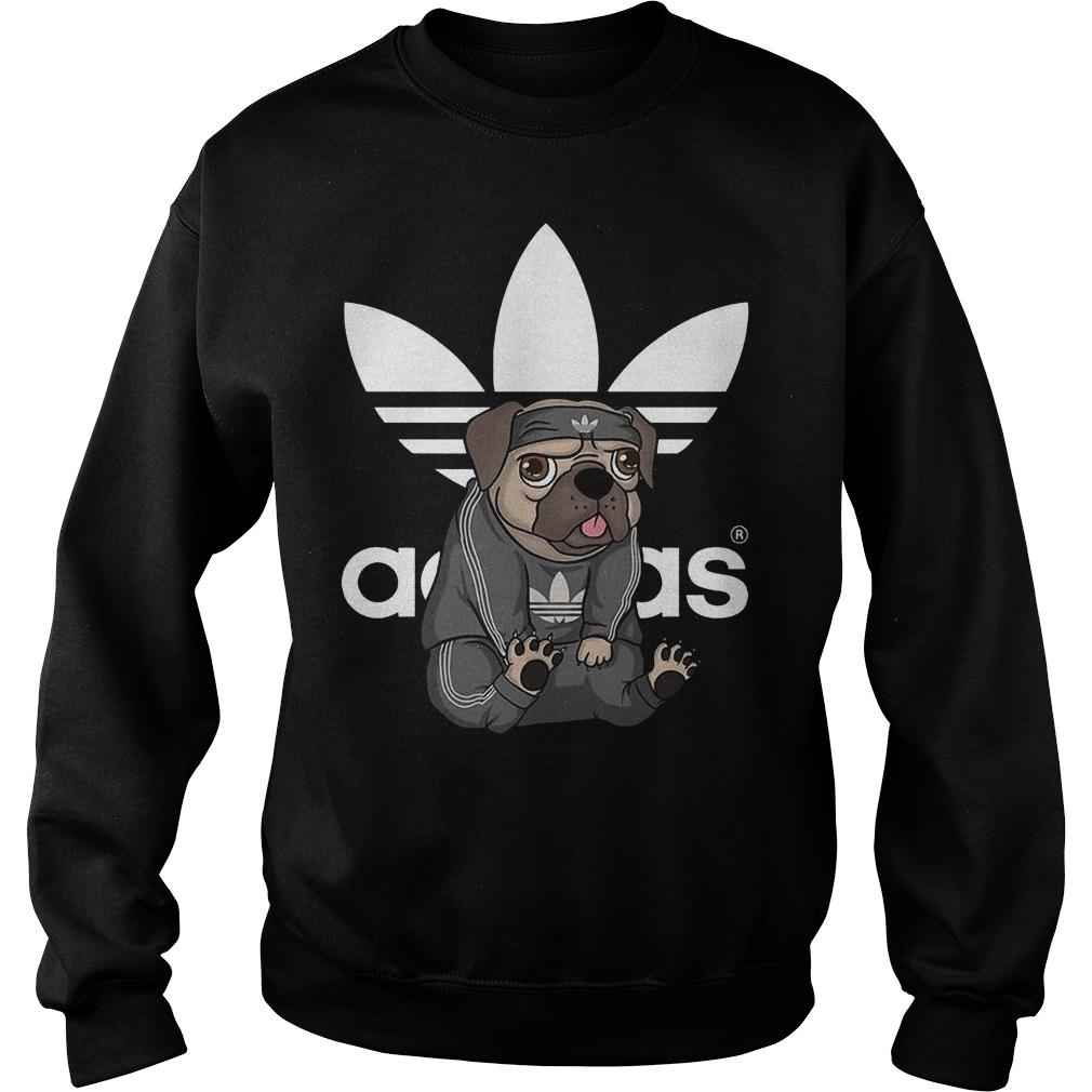 Adidas Pug shirt Sweatshirt Unisex