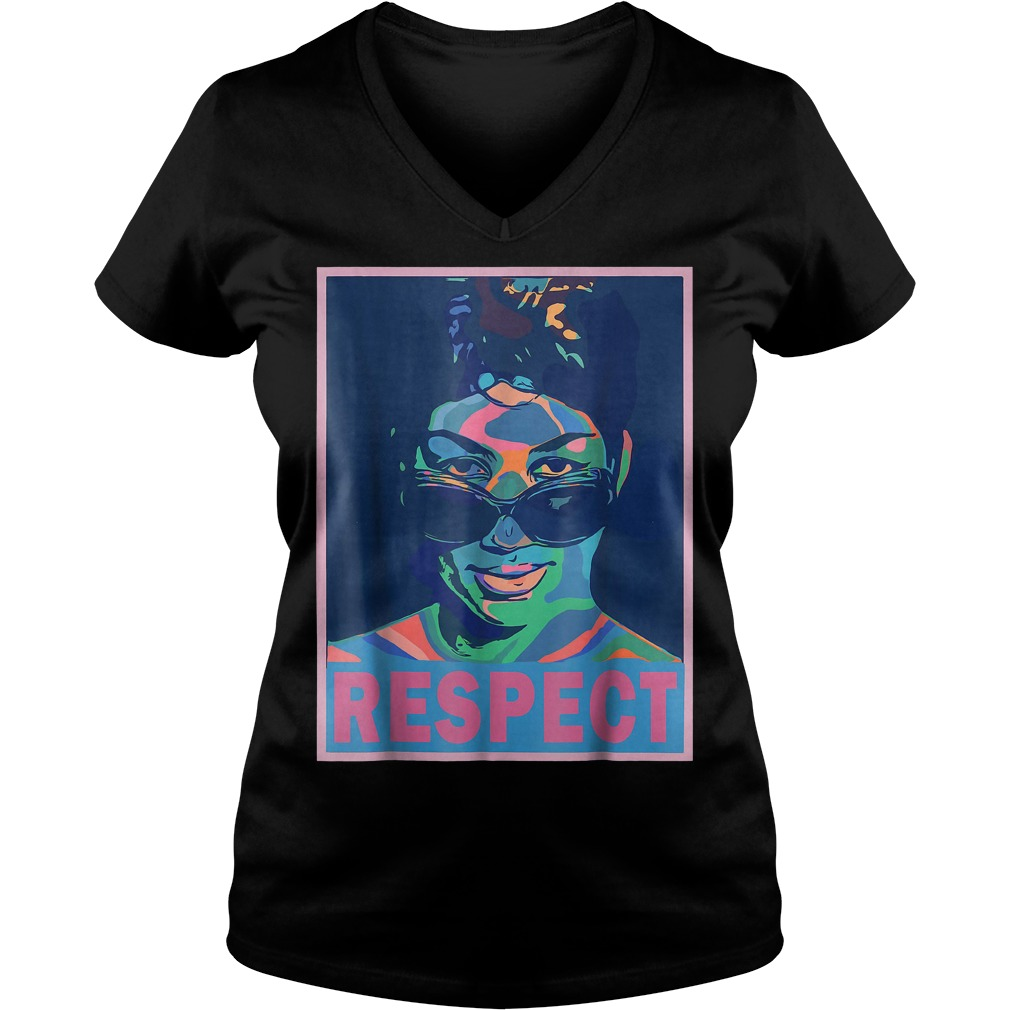 Aretha Queen of Soul Respect shirt Ladies V-Neck