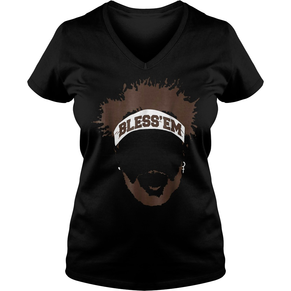 Bless Em Browns Football shirt Ladies V-Neck