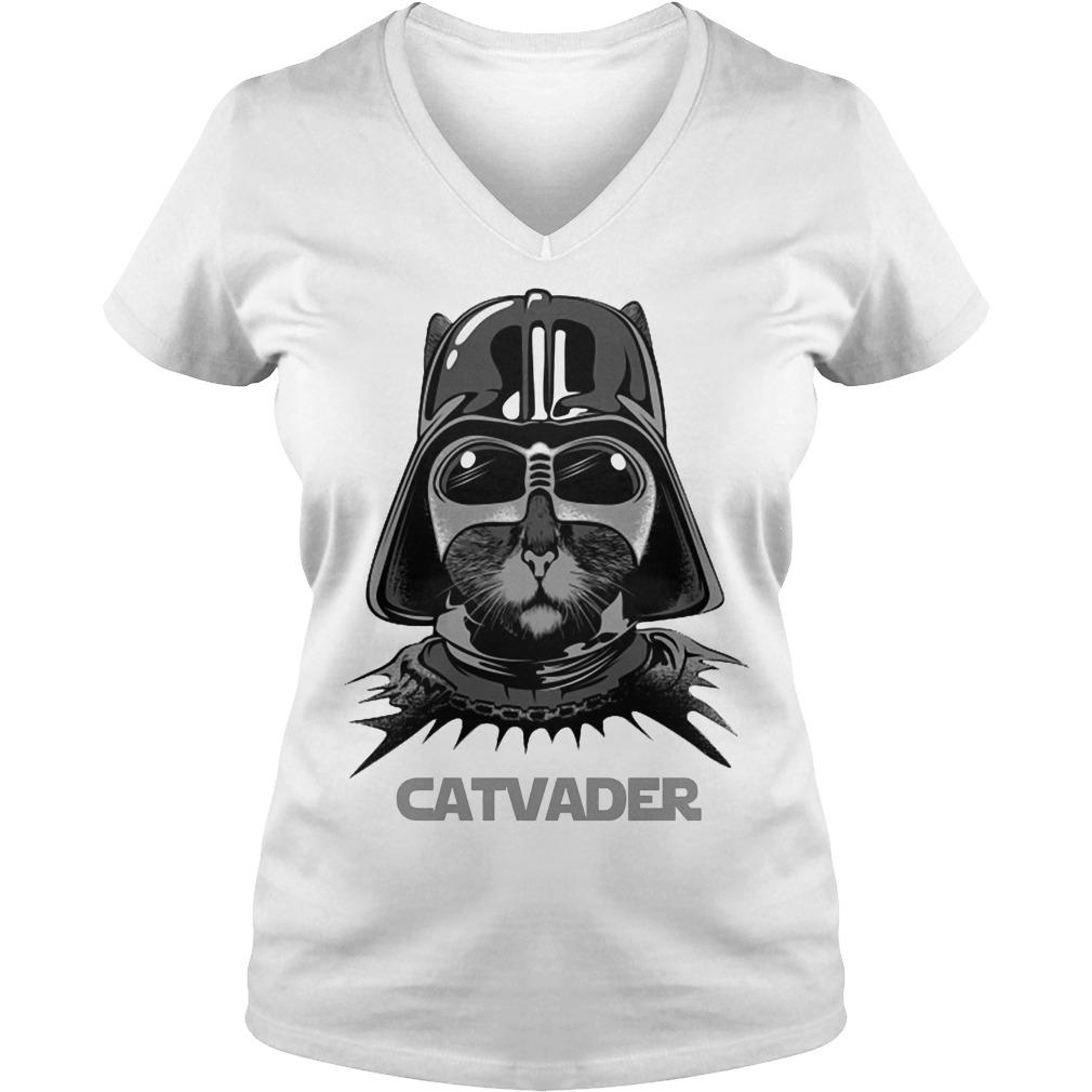 Cat Darth Vader Catvader Shirt Ladies V-Neck