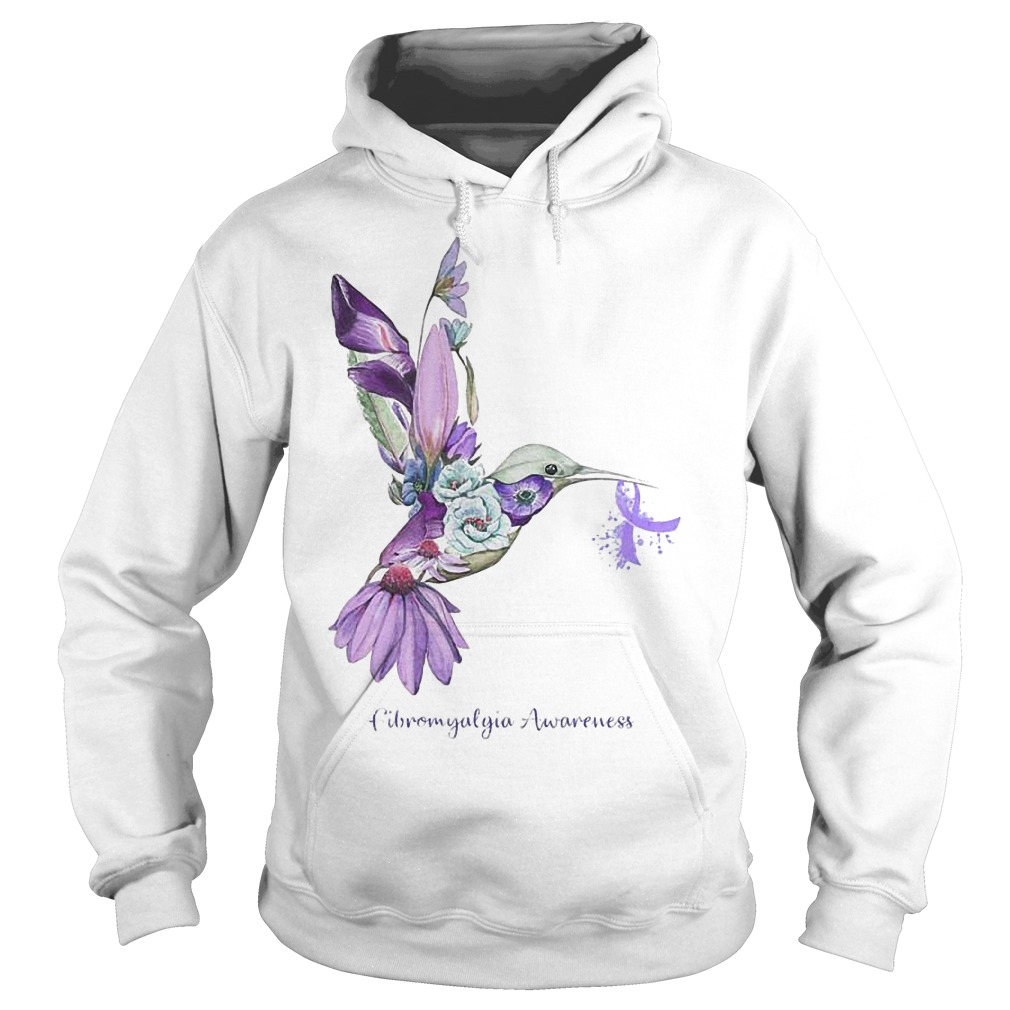 Fibromyalgia Awareness Bird Shirt Hoodie