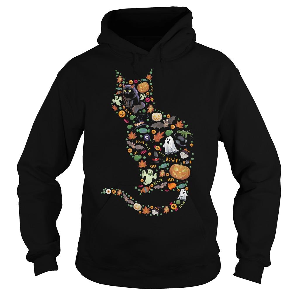 Halloween Cat shirt Hoodie