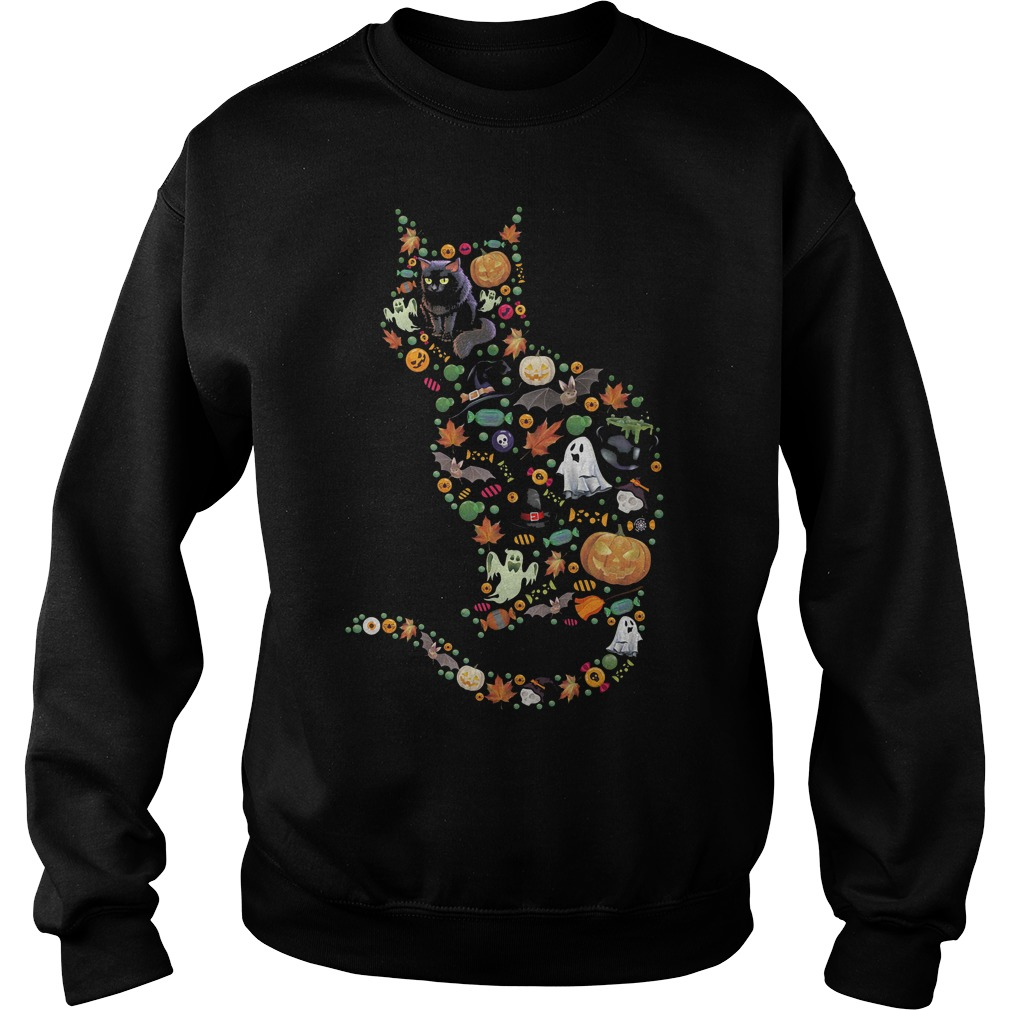 Halloween Cat shirt Sweatshirt Unisex