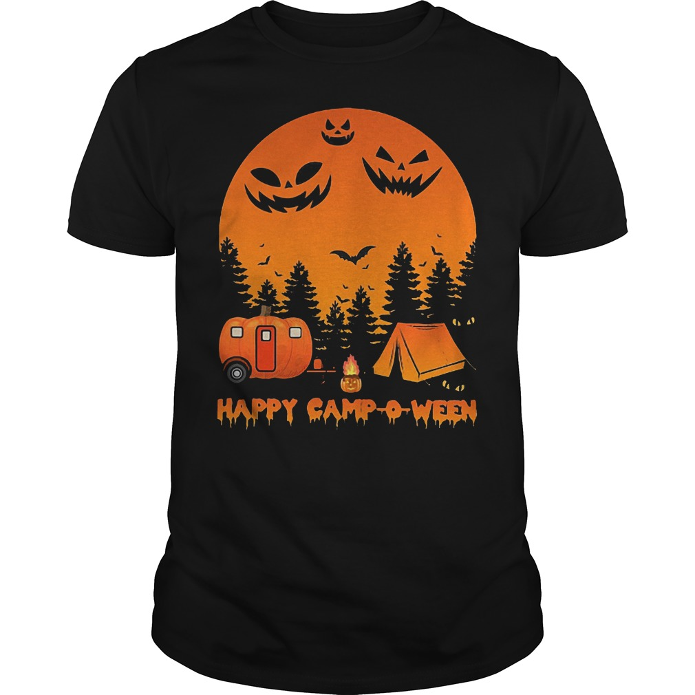 Happy Camp O Ween Halloween Camping Shirt