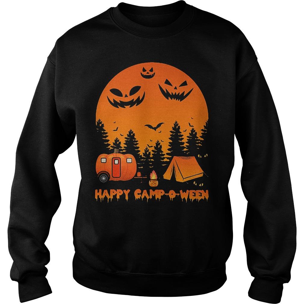 Happy Camp-o-ween Halloween Camping Shirt Sweatshirt Unisex