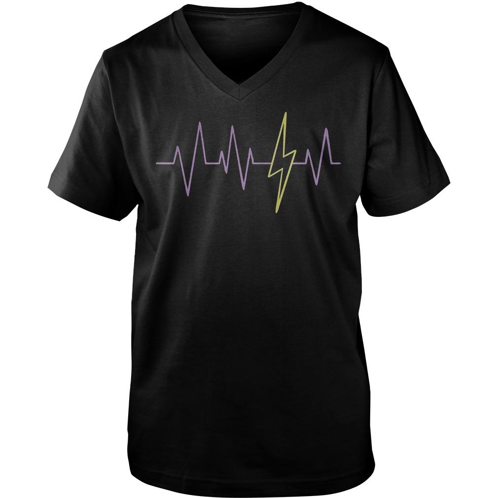 Harry Potter Heartbeat T-Shirt Guys V-Neck