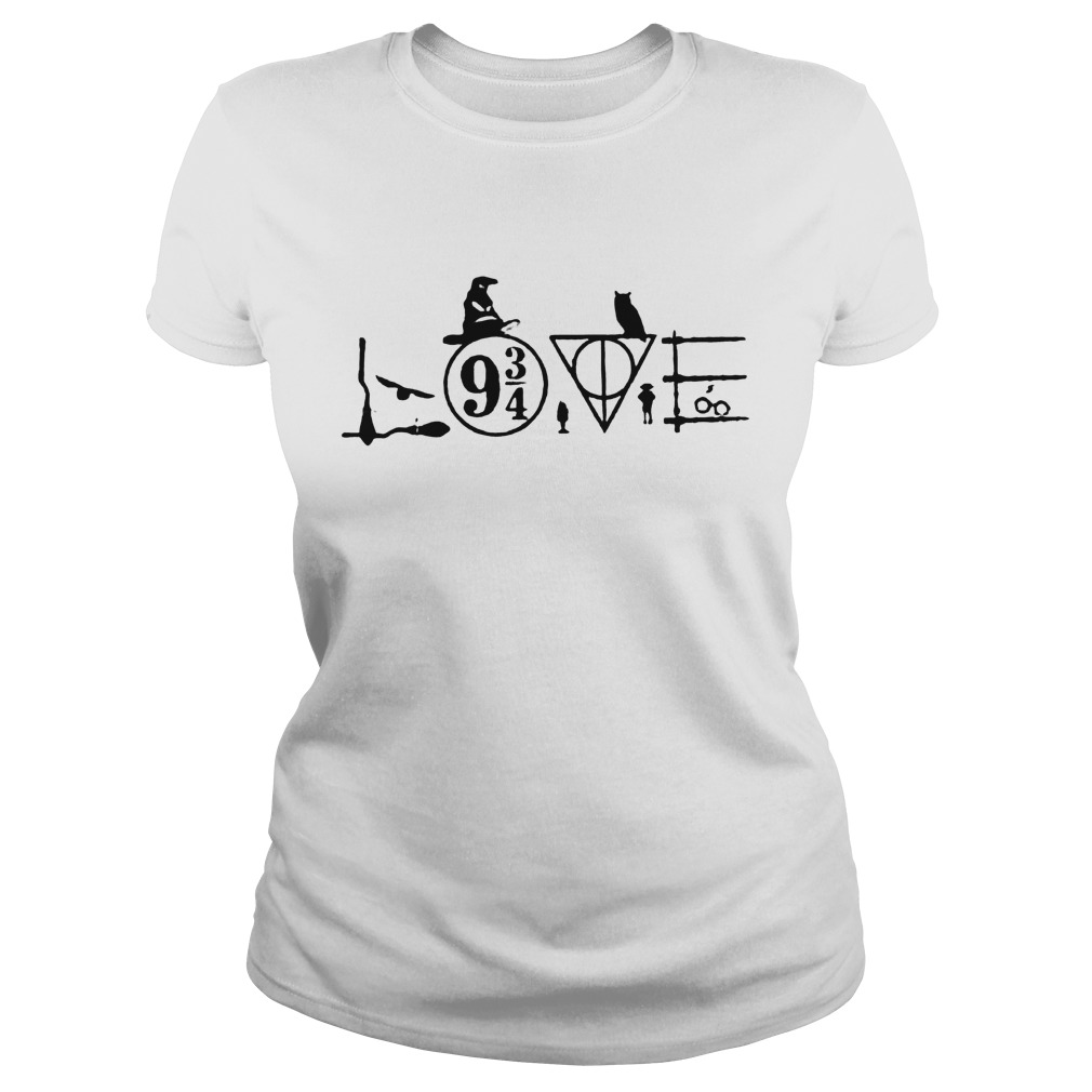 Harry Potter Witch Hat Love 9 3/4 Shirt Classic Ladies Tee