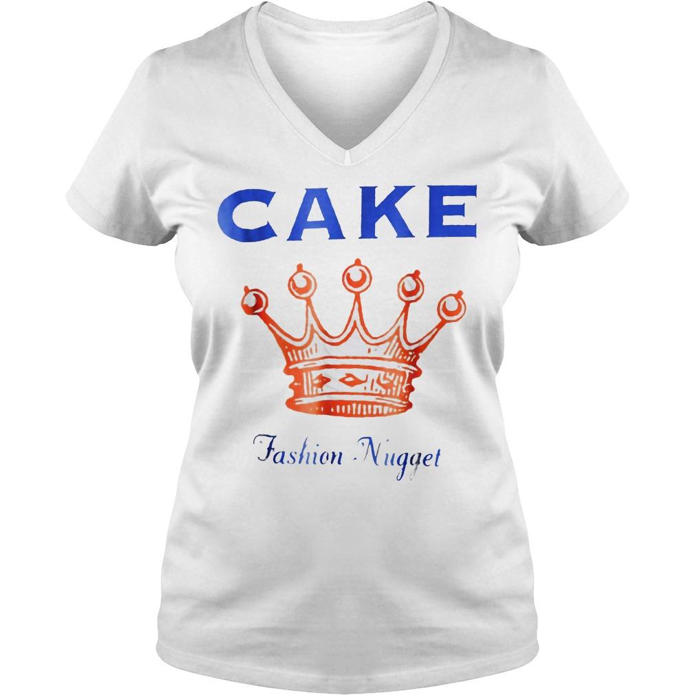 King Cake fashion nugget Shirt Ladies V-Neck