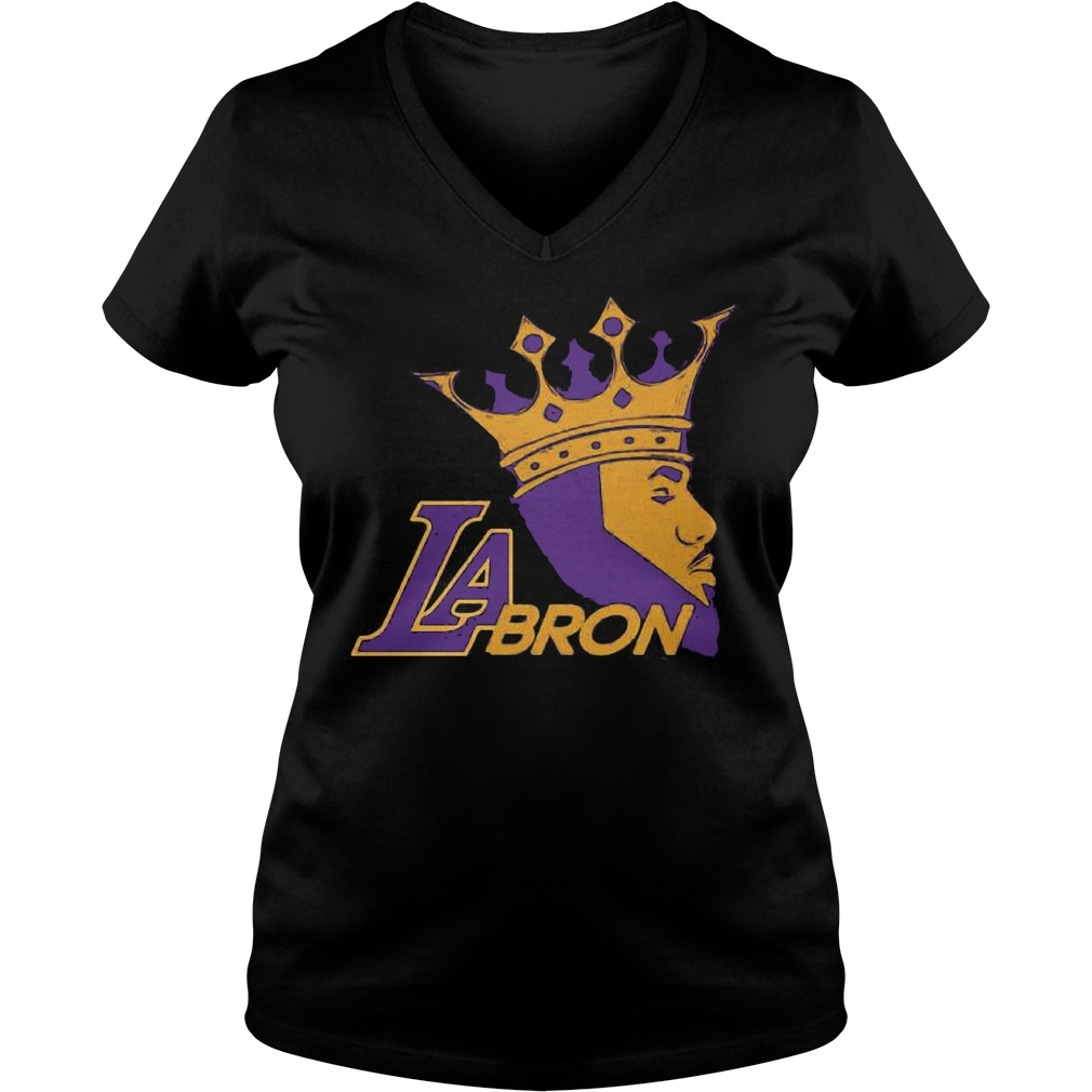 LaBron Lebron Lakers Los Angeles New King shirt Ladies V-Neck