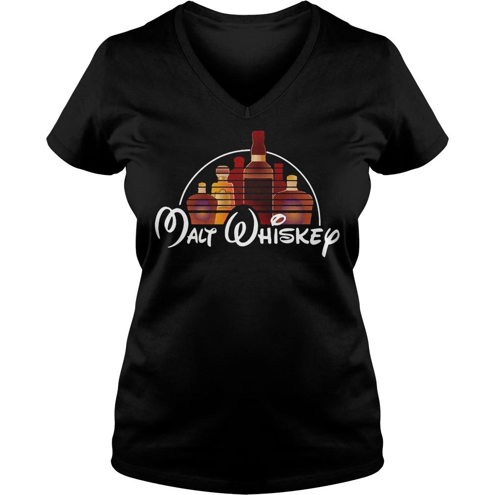 Malt Whiskey Walt Disney X Whiskey Shirt Ladies V-Neck