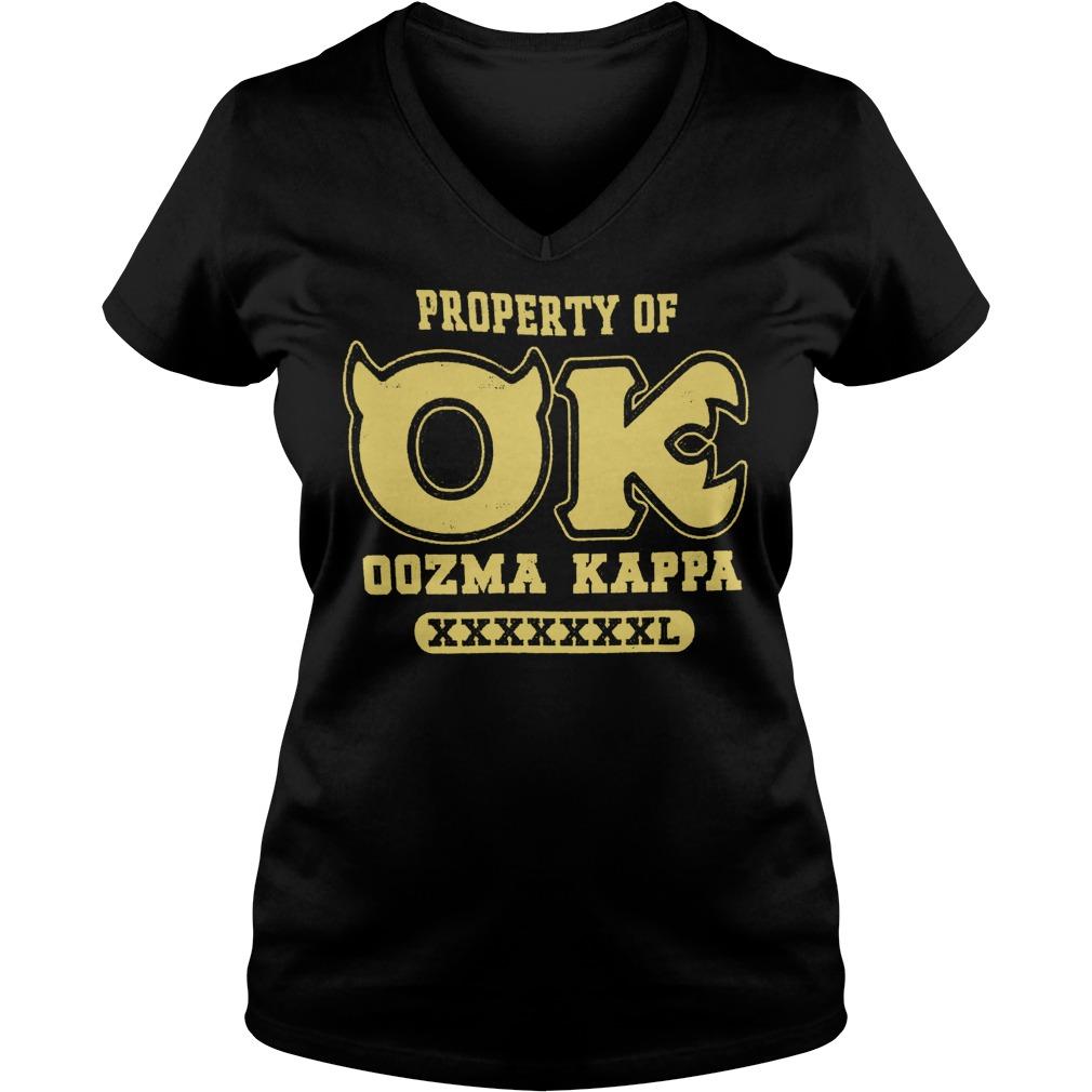 Monsters University property of OK oozma Kappa shirt Ladies V-Neck