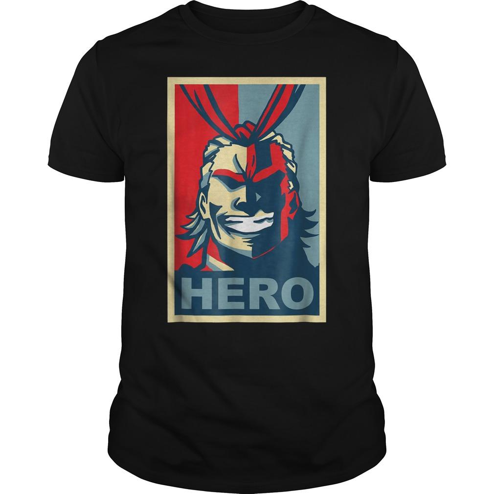 My Heroes Academia Art All Might Anime Shirt